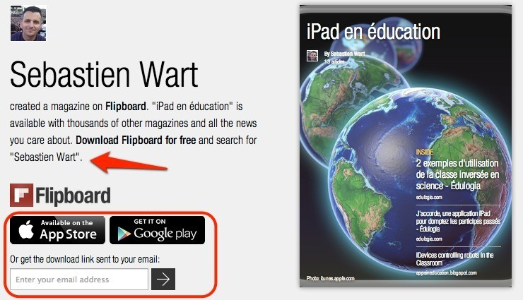 Magazine Flipboard Le iPad en Éducation