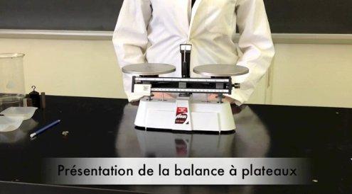Capsule vidéo sur le fonctionnement de la balance à plateau