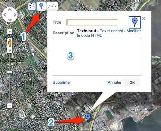 Ajouter un repère à une carte Google Maps