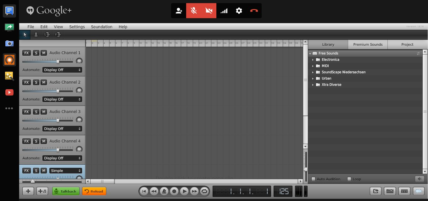 Soundation Google hangouts