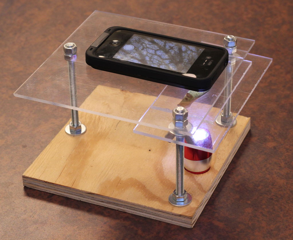 appareil mobile en microscope