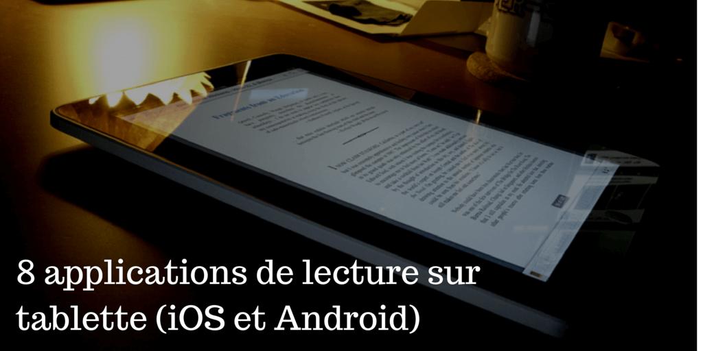 8 applications de lecture sur tablette