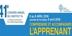 Congrès annuel de l'ITA (Institut des troubles d'apprentissage)